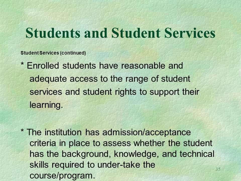 Students and Student Services