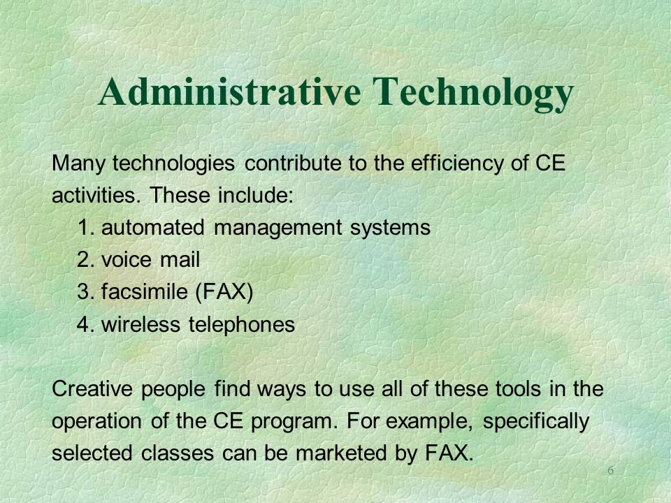 Administrative Technology