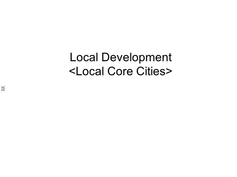 Local Development <Local Core Cities>