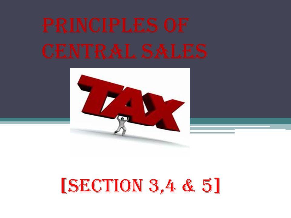 Principles of Central Sales