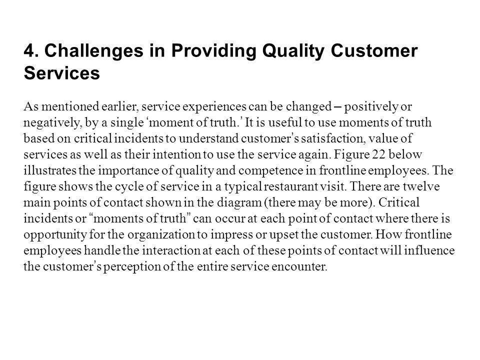 4. Challenges in Providing Quality Customer Services