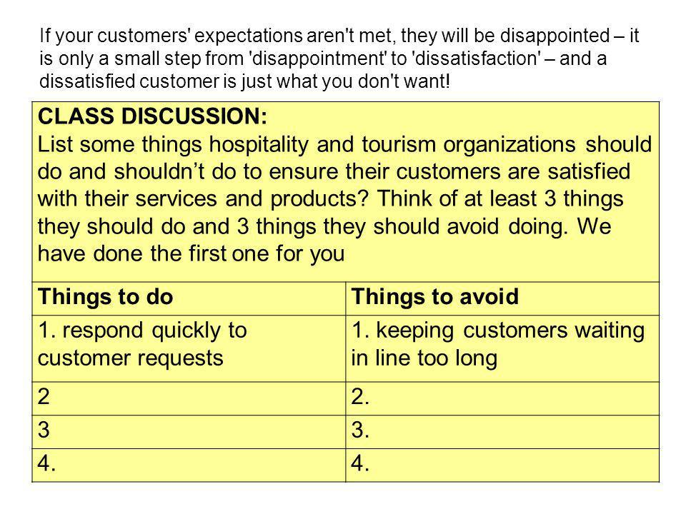 1. respond quickly to customer requests