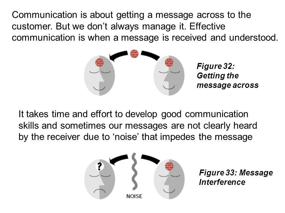 Communication is about getting a message across to the customer
