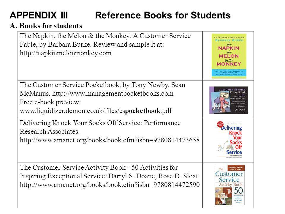 APPENDIX III Reference Books for Students