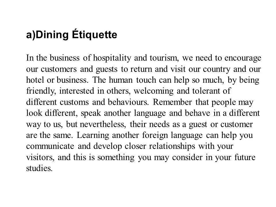 Dining Étiquette
