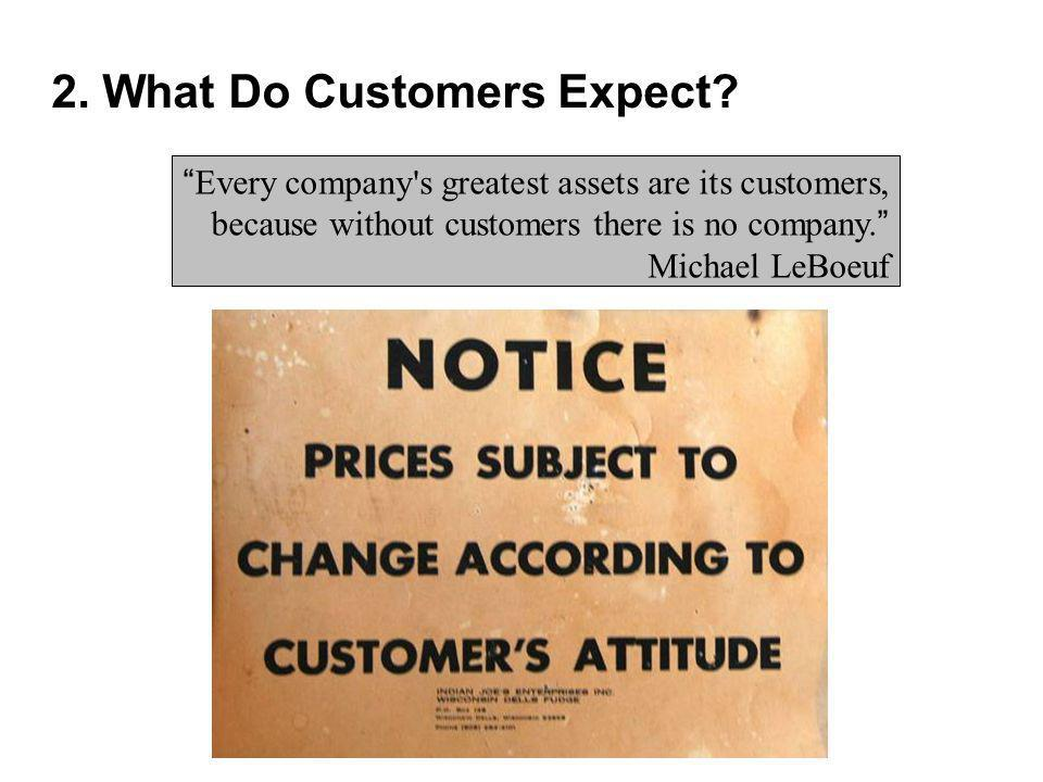 2. What Do Customers Expect