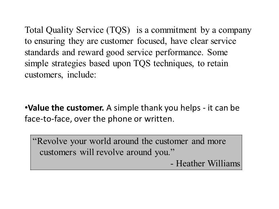 Total Quality Service (TQS)