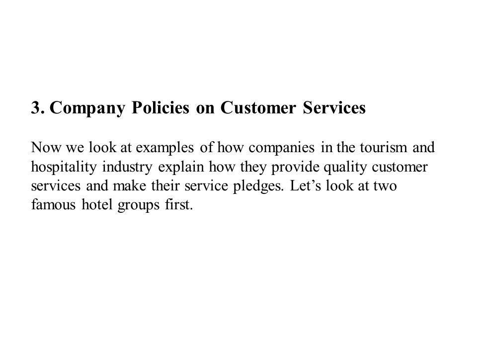 3. Company Policies on Customer Services