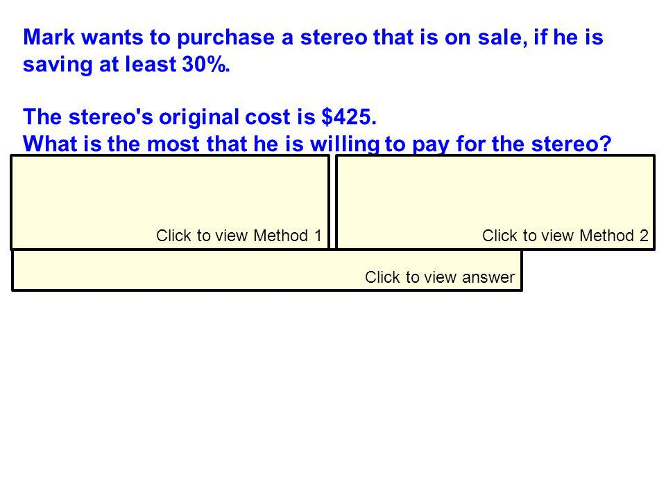 The stereo s original cost is $425.