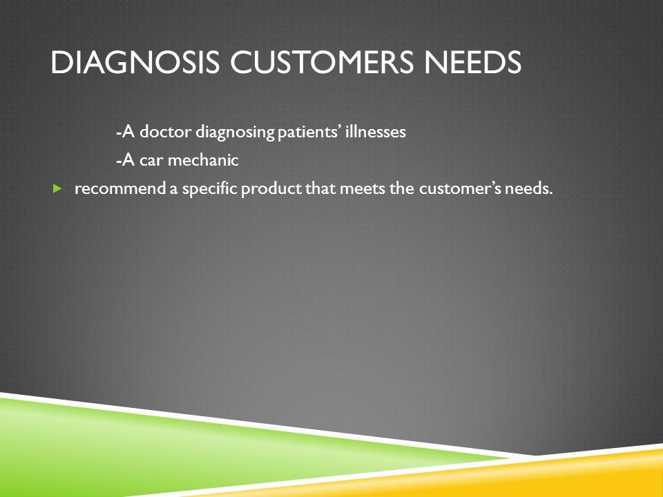 Diagnosis Customers Needs