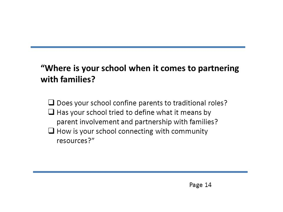 Where is your school when it comes to partnering with families