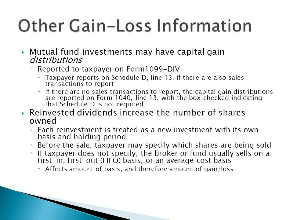Other Gain-Loss Information