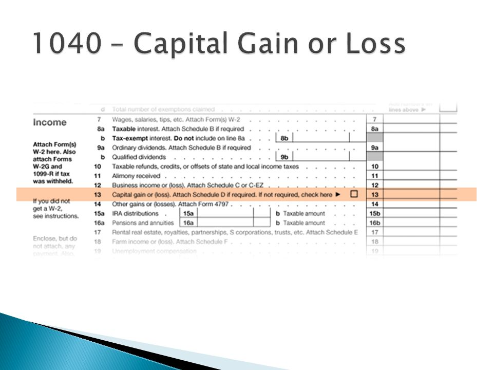 1040 – Capital Gain or Loss