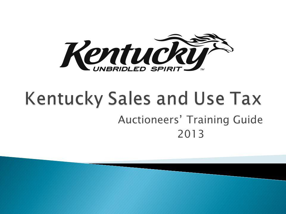 Kentucky Sales and Use Tax