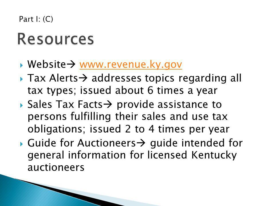 Resources Website www.revenue.ky.gov