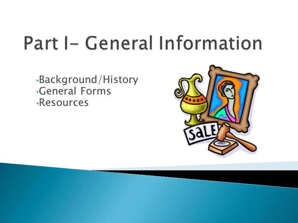 Part I- General Information