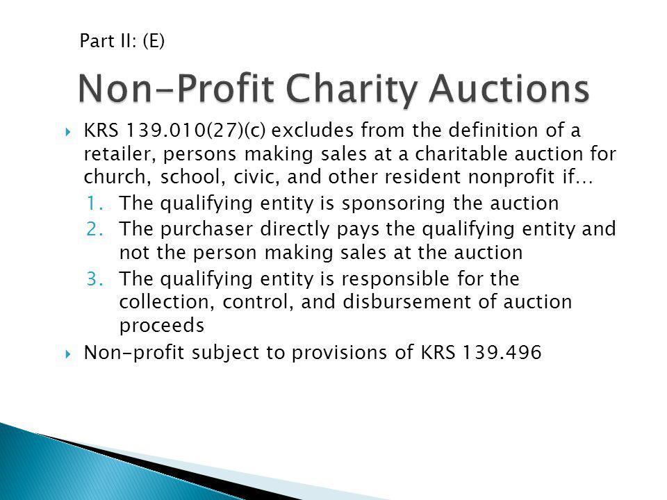 Non-Profit Charity Auctions