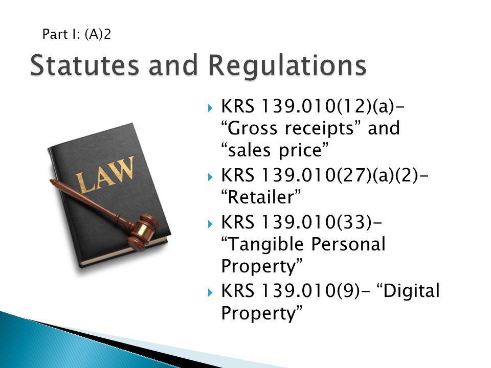 Statutes and Regulations