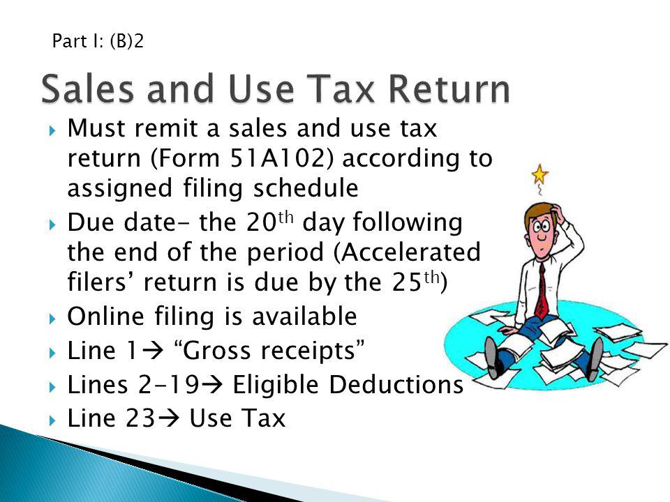 Sales and Use Tax Return