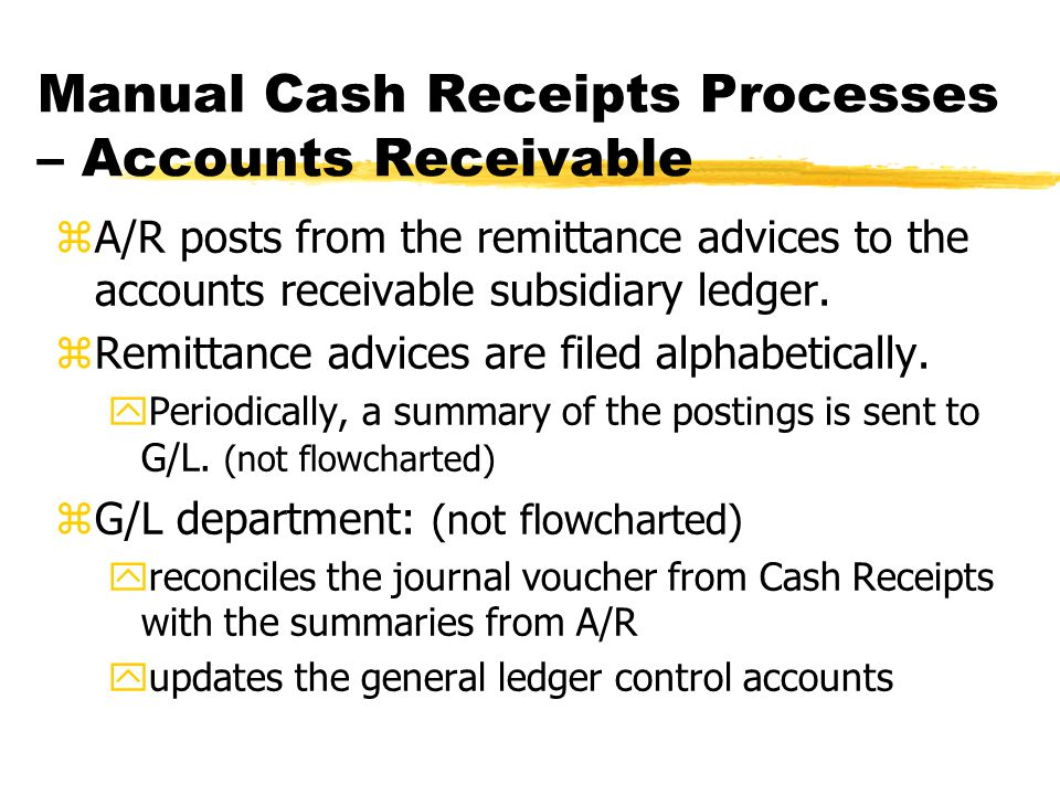 Manual Cash Receipts Processes – Accounts Receivable