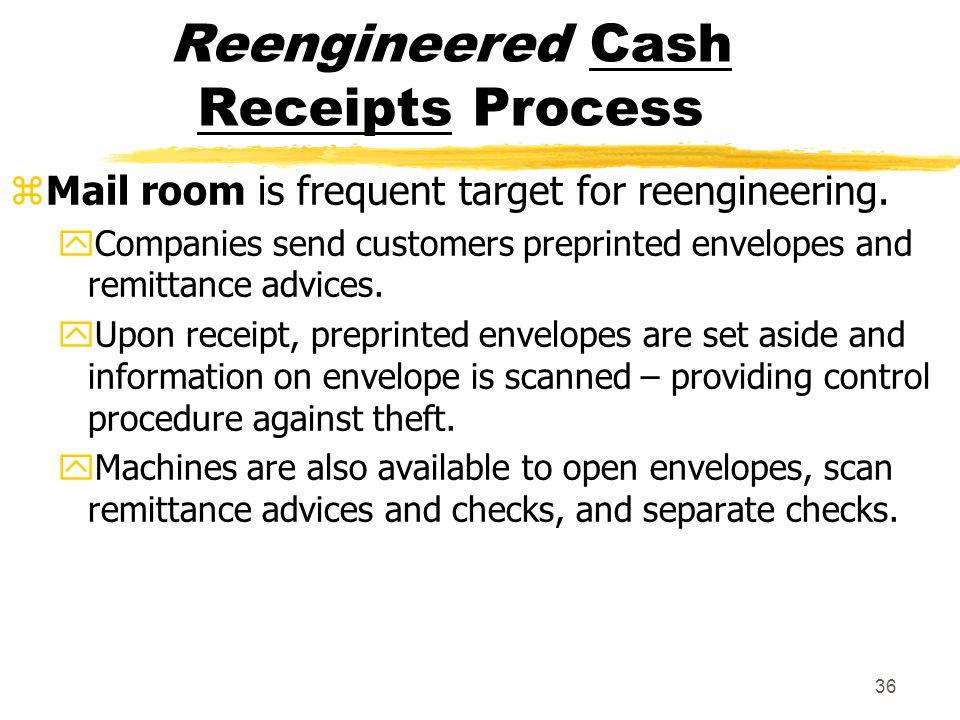 Reengineered Cash Receipts Process
