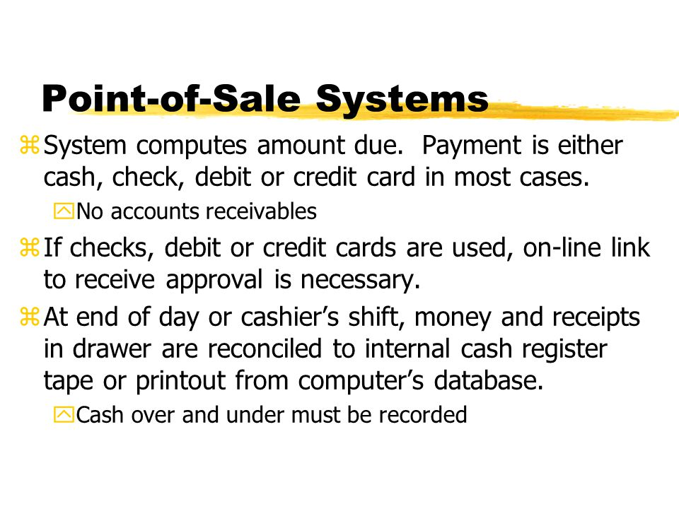 Point-of-Sale Systems