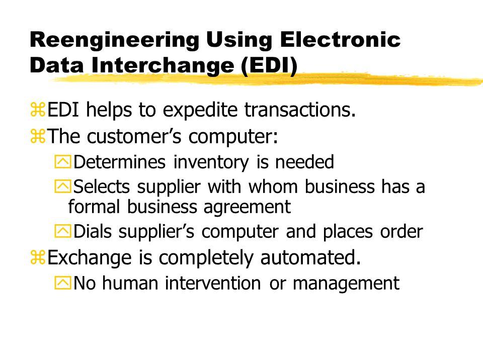 Reengineering Using Electronic Data Interchange (EDI)