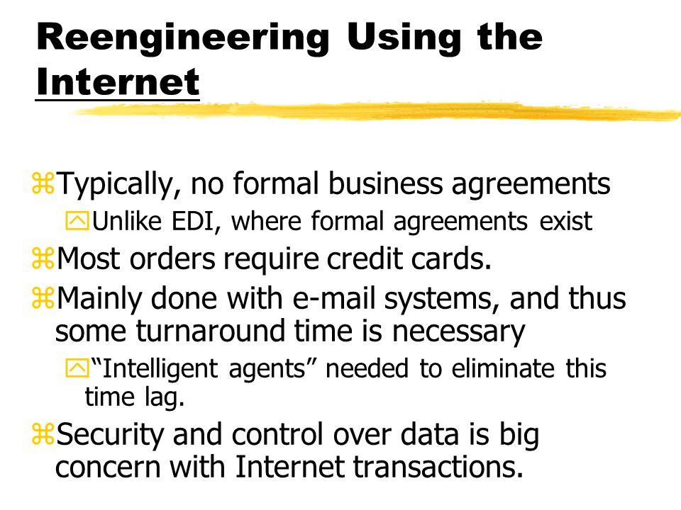 Reengineering Using the Internet