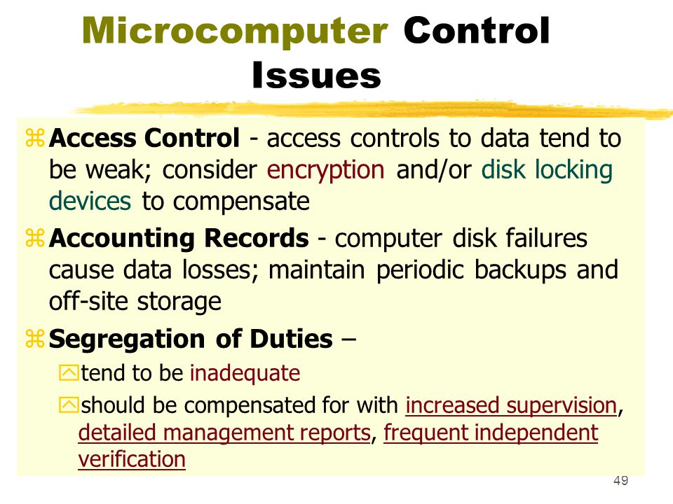 Microcomputer Control Issues