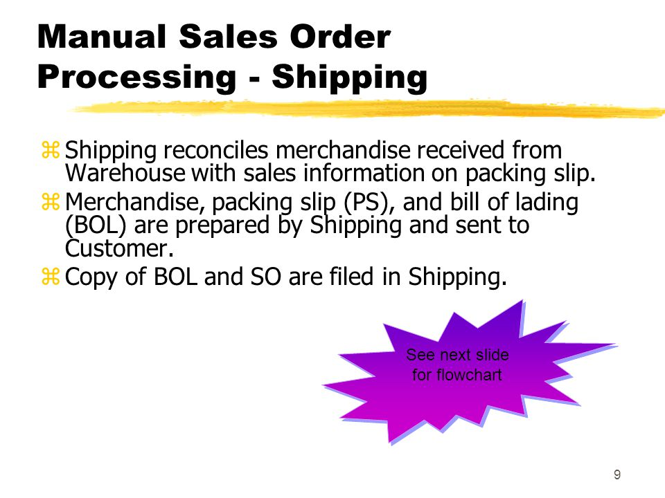 Manual Sales Order Processing - Shipping