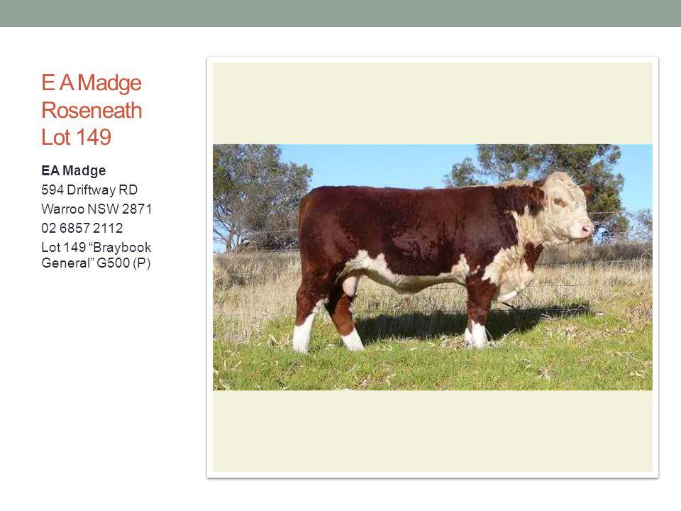 E A Madge Roseneath Lot 149 EA Madge 594 Driftway RD Warroo NSW 2871