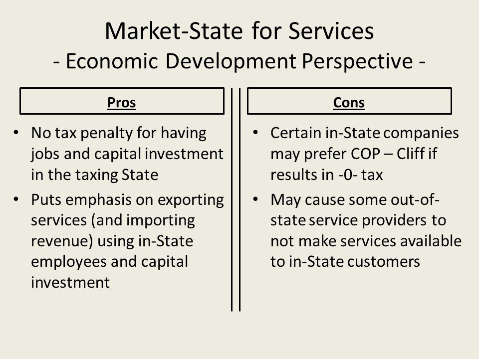 Market-State for Services - Economic Development Perspective -