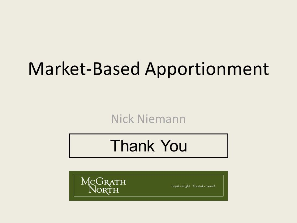 Market-Based Apportionment