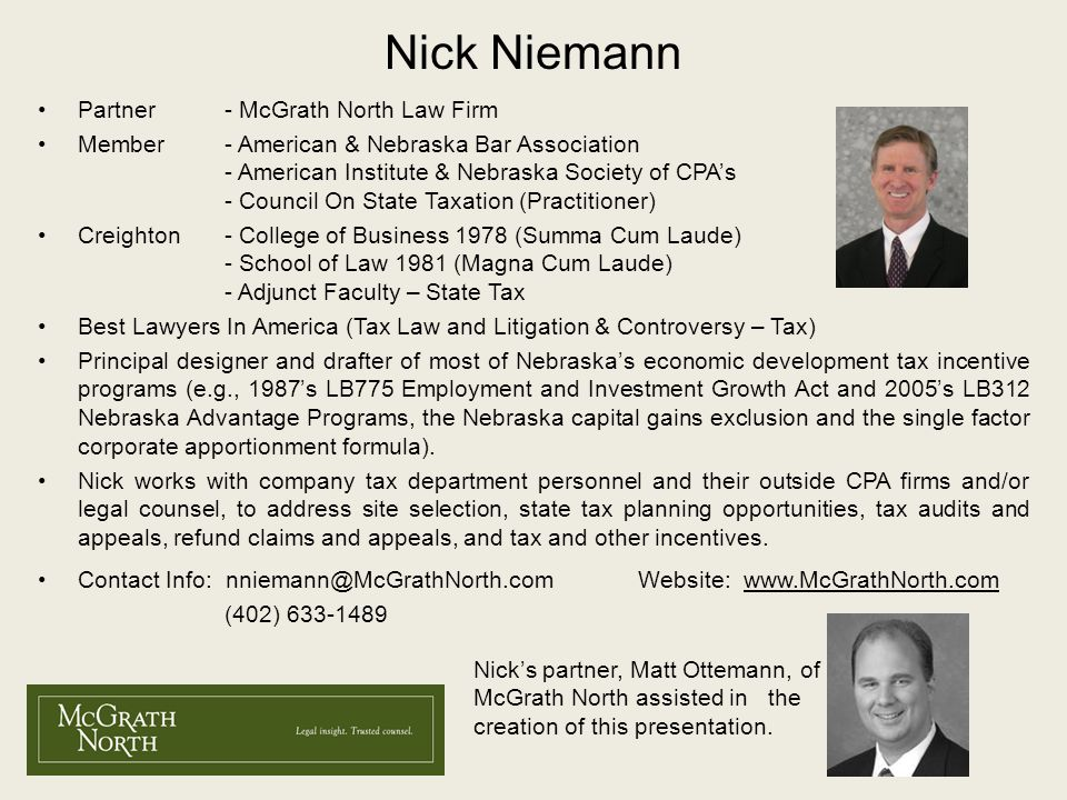 Nick Niemann Partner - McGrath North Law Firm