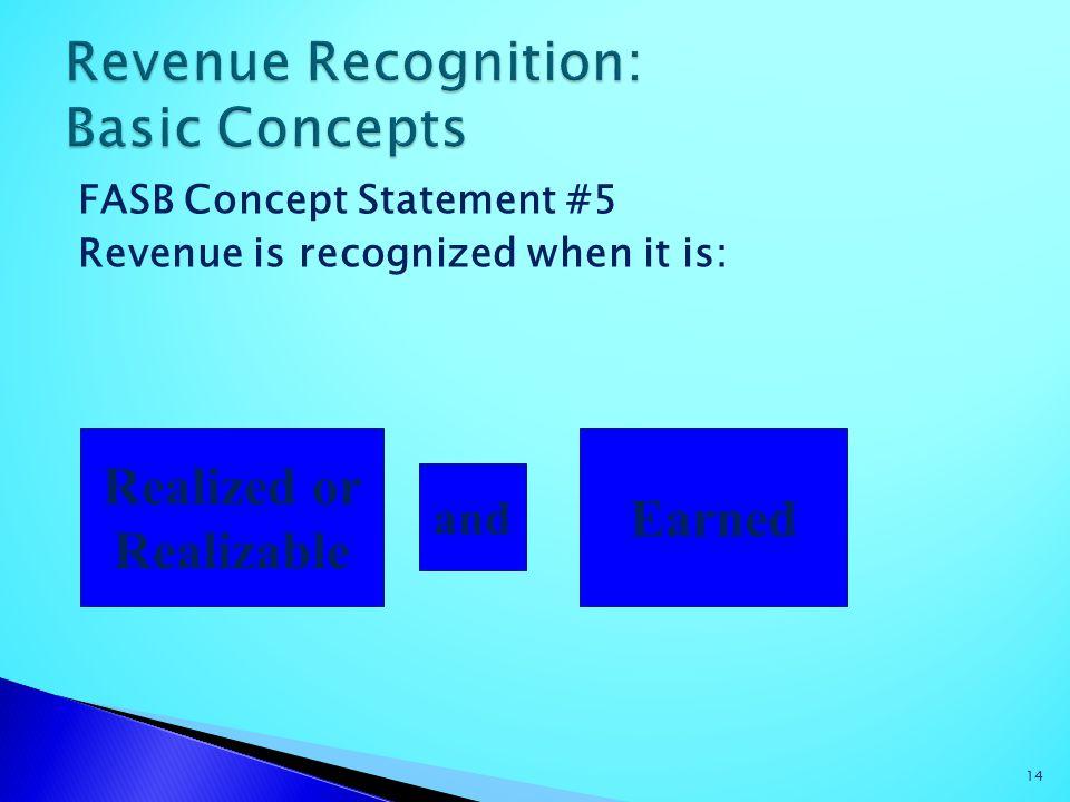 Revenue Recognition: Basic Concepts