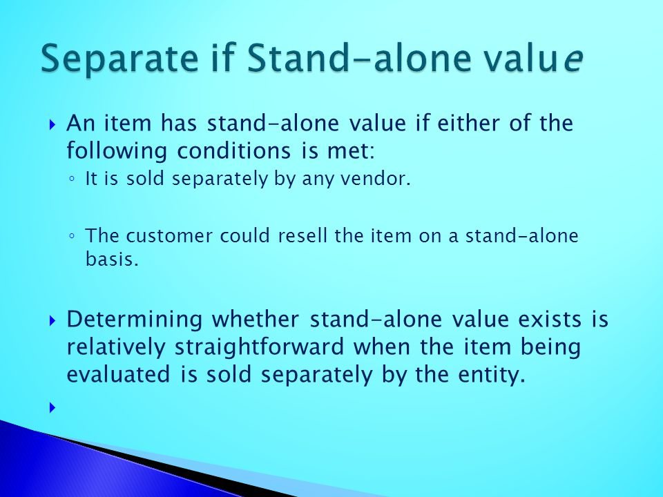 Separate if Stand-alone value