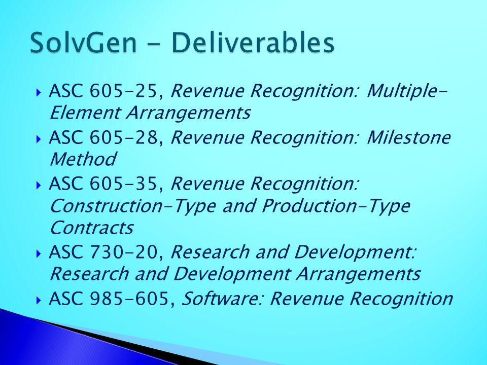 SolvGen - Deliverables