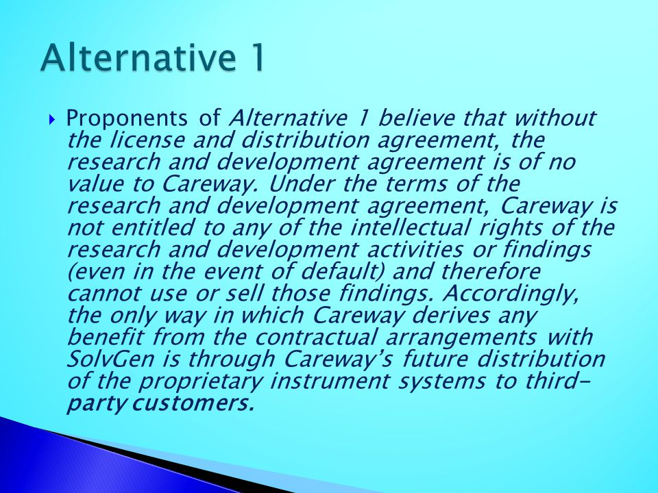 Alternative 1