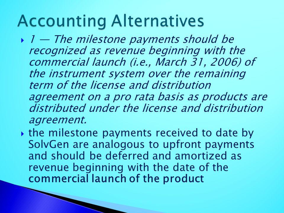 Accounting Alternatives