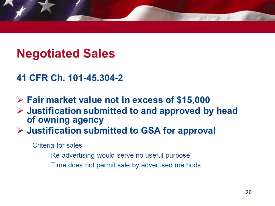Negotiated Sales 41 CFR Ch. 101-45.304-2