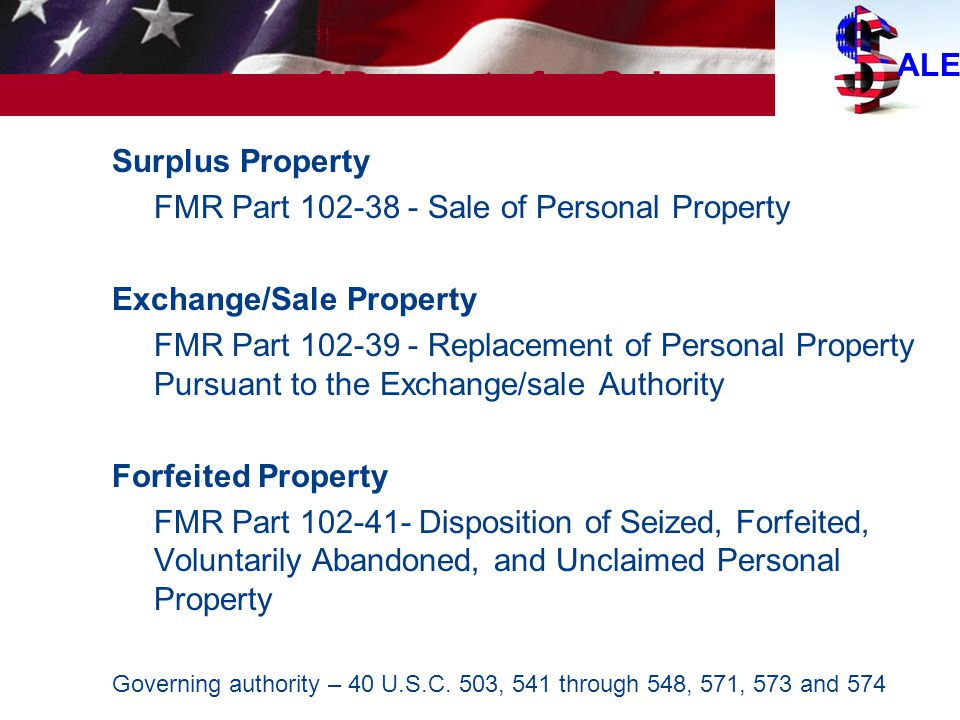 Categories of Property for Sale
