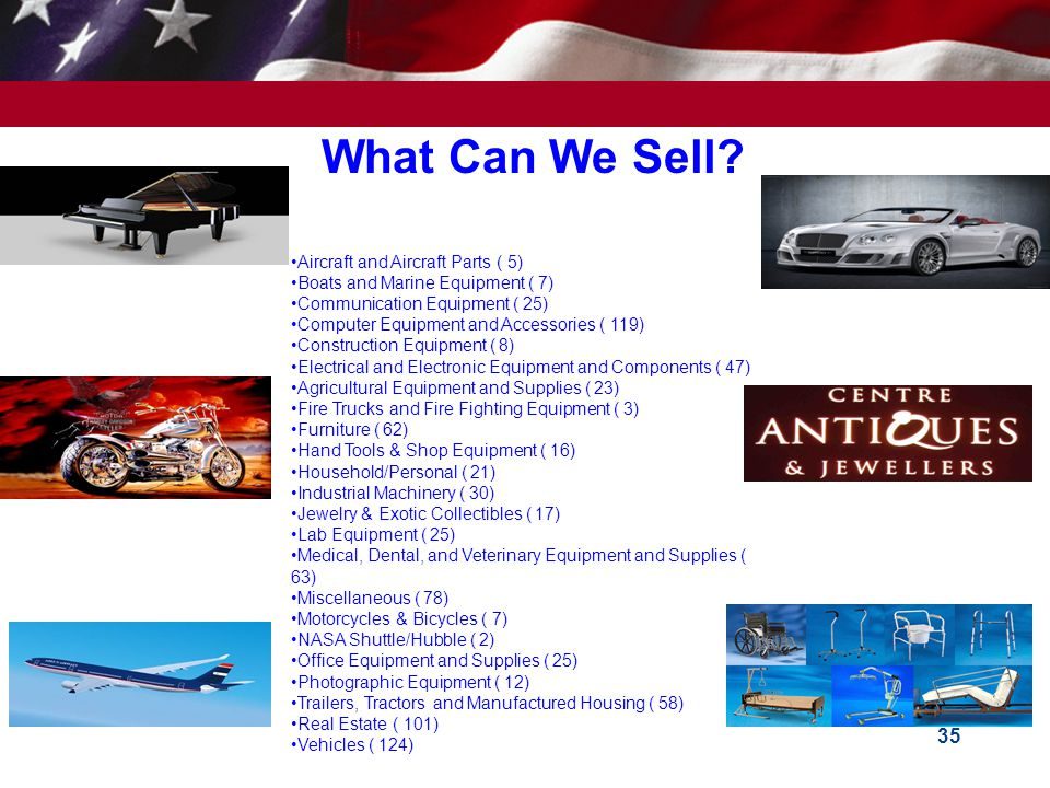 What Can We Sell Aircraft and Aircraft Parts ( 5)