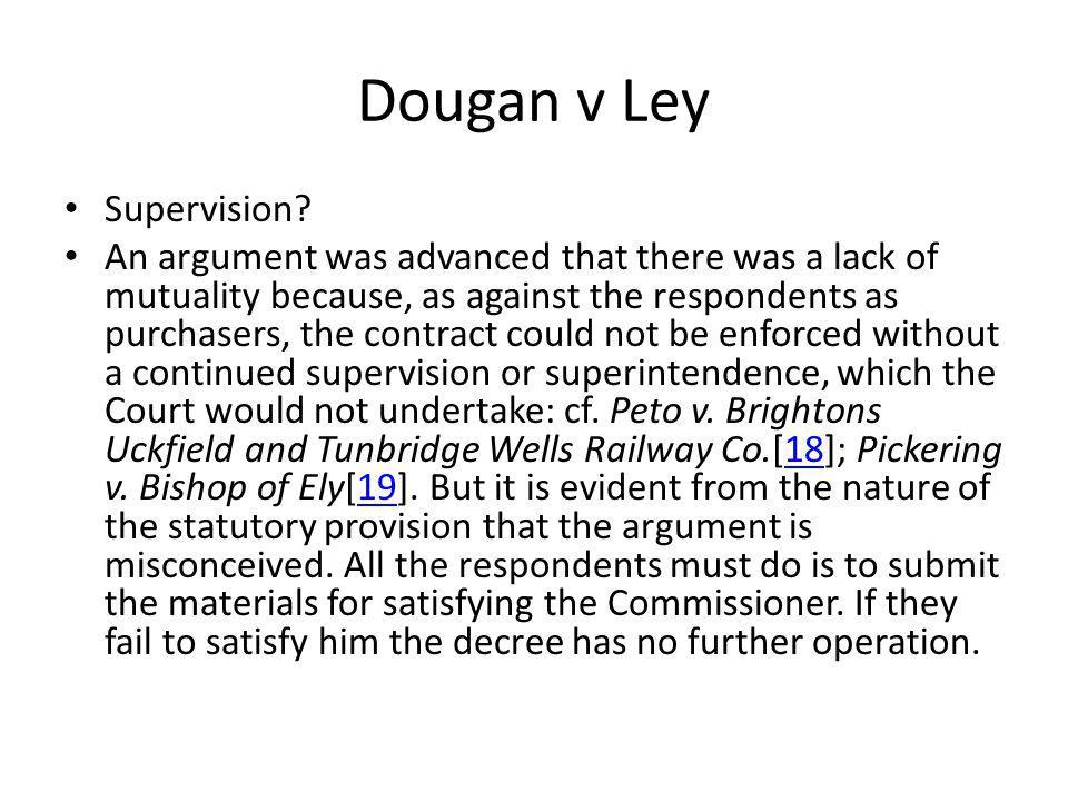 Dougan v Ley Supervision