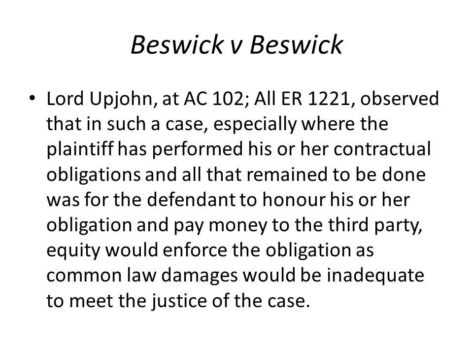 Beswick v Beswick
