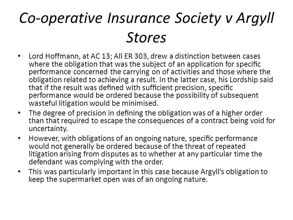 Co-operative Insurance Society v Argyll Stores