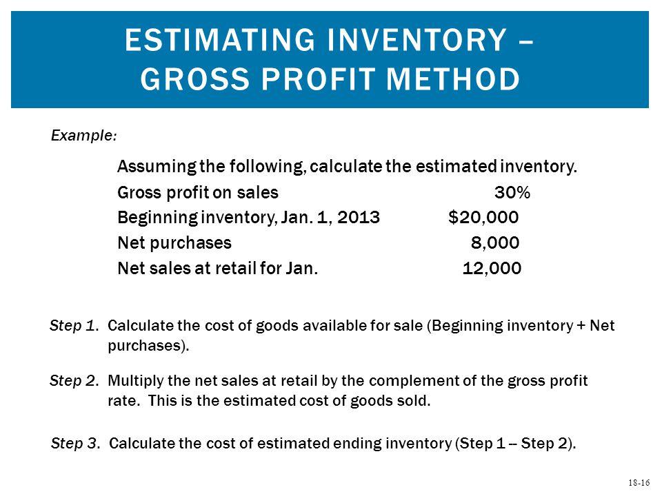 Estimating Inventory – Gross Profit Method