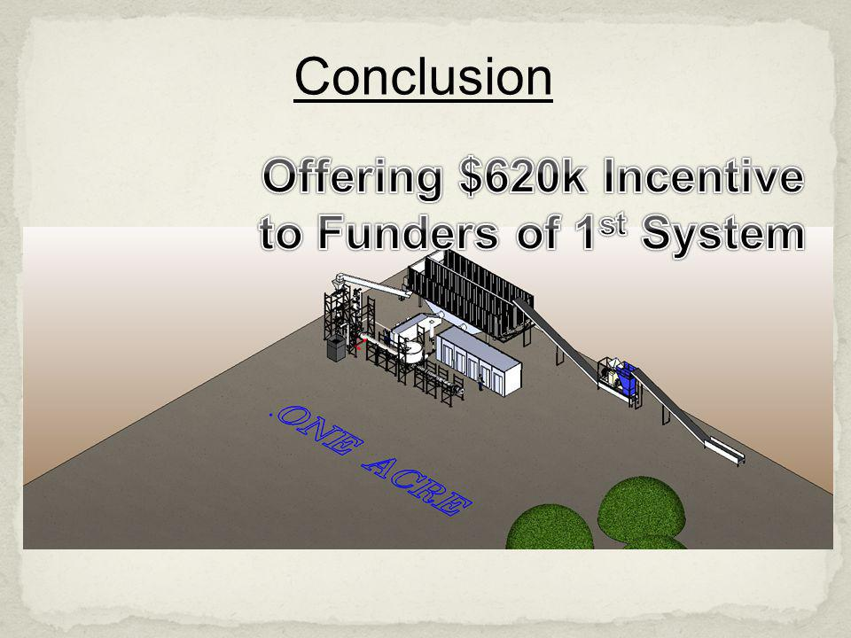 Offering $620k Incentive to Funders of 1st System