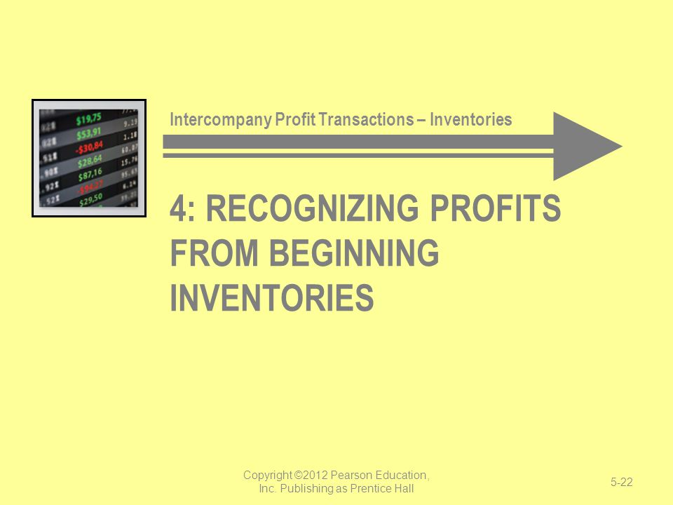 4: Recognizing Profits from Beginning Inventories