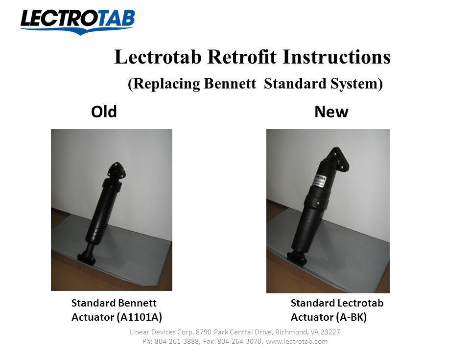 Lectrotab Retrofit Instructions (Replacing Bennett Standard System)