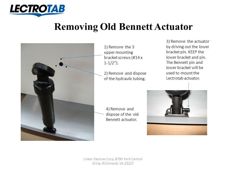 Removing Old Bennett Actuator